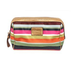 Coach Multicolor Legacy Stripe Cosmetic Pouch